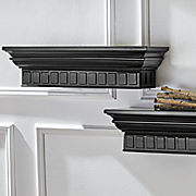 set of 2 molded shelves