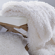 faux mongolian fur pillow and throw