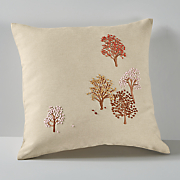 french knot autumn pillow