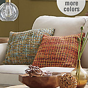 textured tweed pillow