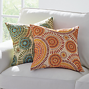 spirals embroidered pillow