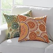 spirals embroidered pillow