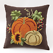 harvest tufted pillow