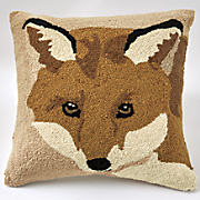 sly fox hooked pillow