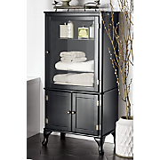 black hinged cabinet