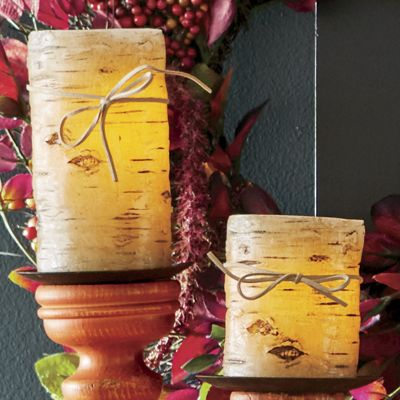 Birch Pillar Candle