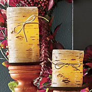Birch Pillar Candle