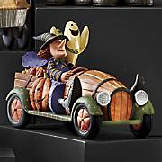 witch in barrel car by williraye studio