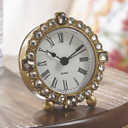 mini gold   jewel table clock