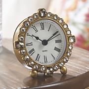 Mini Gold & Jewel Table Clock