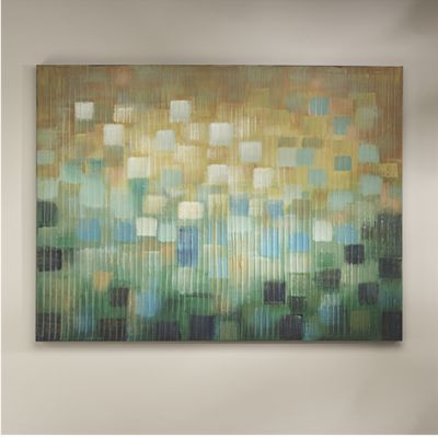 Blue Ombre Brushstroke Art