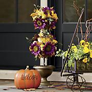 purple sunflower topiary