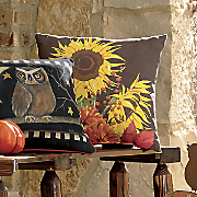 brown sunflower pillow