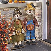 wooden scarecrow
