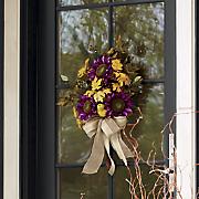 purple sunflower hanging bouquet