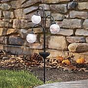 3 orb solar light stake