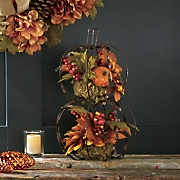 stacked pumpkin floral
