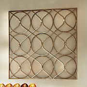 Rose-Gold Circle Metal Art