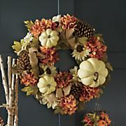 white pumpkin wreath