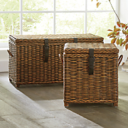 rattan storage cube and trunk