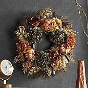 metallic pumpkin wreath