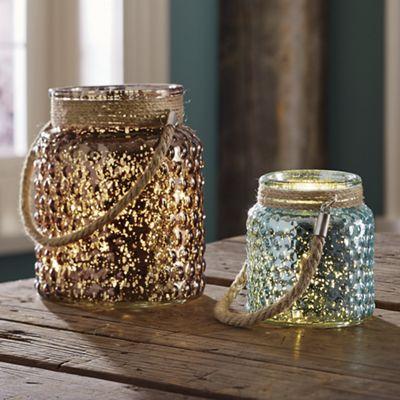 Mercury Glass Lanterns