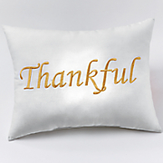 embroidered sentiment pillow