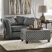 gray settee   ottoman