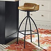 blake tall wood seat stool