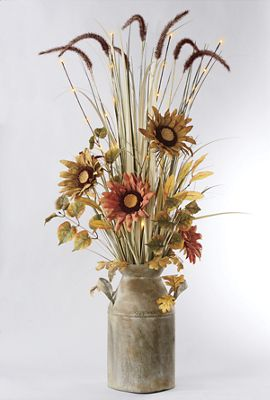 Lit Sunflowers and Foxtails