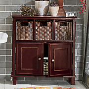 rattan towel cabinet