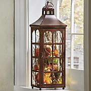 large lit lantern