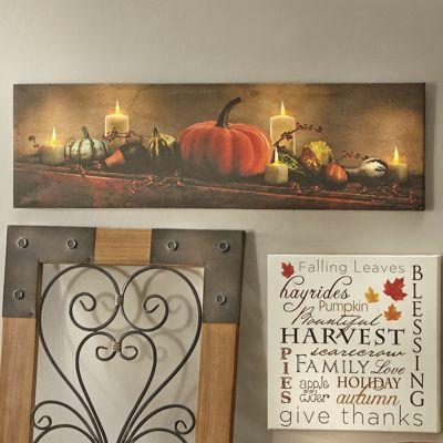 Lit Pumpkin Art