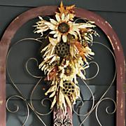 glitter lotus sunflower swag