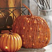 natural led pumpkin