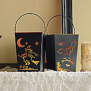 led halloween cutout lantern