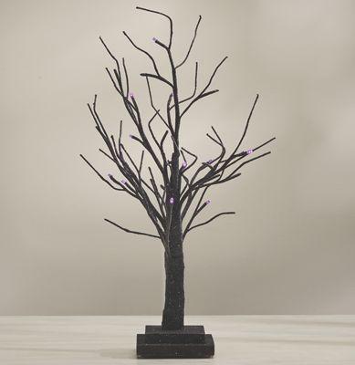 Purple Lit Halloween Tree
