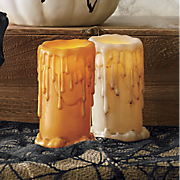 set of 2 drip candles