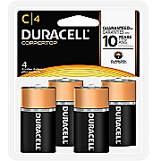 duracell 4 pack of c batteries