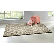 carved gray shag tile rug