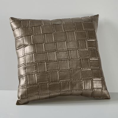 Embossed Faux Leather Pillow