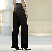 Audrey Pinstripe Trouser-Long