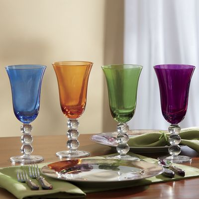 4-Piece Prism Colored Glass Set