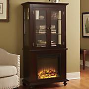 curio cabinet fireplace