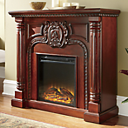 carved pillar fireplace