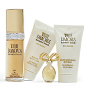 white diamonds 4 pc  set by elizabeth taylor