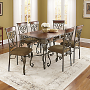 Leaf Scroll Dining Table and Chairs