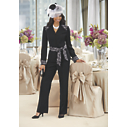 irini hat  pant suit   shoe