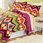 gypsy flannel plush mini comforter set
