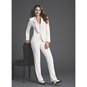 elegant 2 pc  white pantsuit